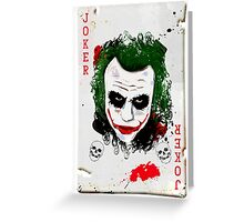 The Joker Card Greeting Card