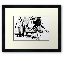 ELECTRIC IRON GRAPHIC  Framed Print