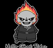 Hello Ghost Rider -black version- by CoyoDesign