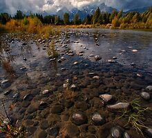 Teton Mountains and Snake River by KellyHeaton