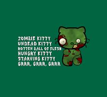 Zombie Kitty Womens Fitted T-Shirt