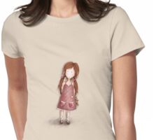 Girl with her teddy Tshirt 1 Womens Fitted T-Shirt