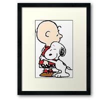 Charlie Brown Hugs Snoopy Framed Print