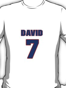 National Hockey player David Booth jersey 7 T-Shirt