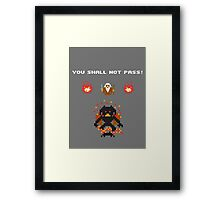 Retro Balrog Framed Print
