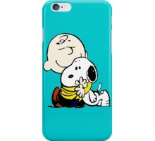 Snoopy hugs Charlie Brown iPhone Case/Skin
