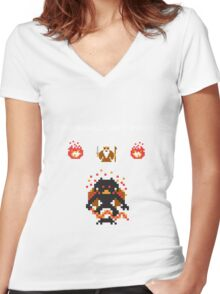 Retro Balrog Women's Fitted V-Neck T-Shirt