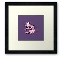 sleepy mewtwo Framed Print