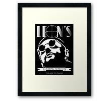 Leon's cleaning services. Framed Print