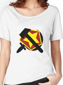 HAMMER  SICKLE AND RED STAR Women's Relaxed Fit T-Shirt