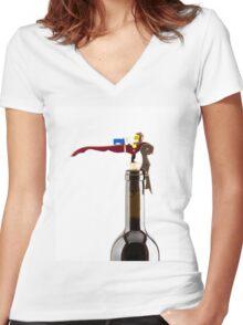 Vino Women's Fitted V-Neck T-Shirt