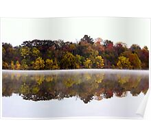 Fall and Fog on Springfield Lake Poster