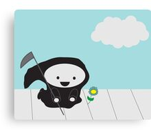 Grim Reaper and Flower Canvas Print