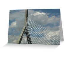 The Leonard P. Zakim Bunker Hill Bridge Greeting Card