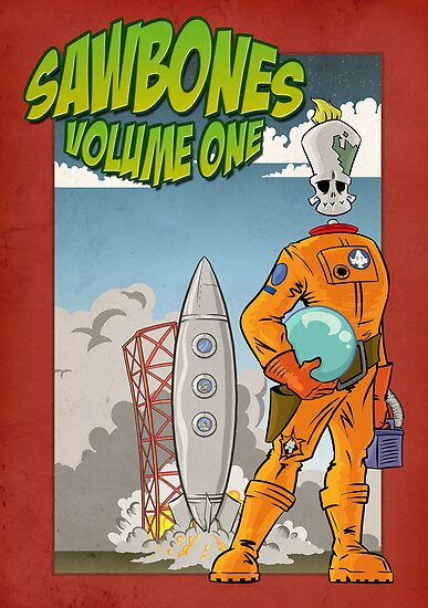 Sawbones Launch poster: Sawyer edition w/o text by Sockpuppet