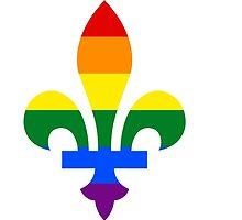 Québec LGBT fleur de lys by La Shop du Québec-  Officiel