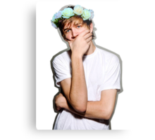 Bo Burnham Flower crown Metal Print