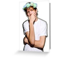 Bo Burnham Flower crown Greeting Card