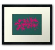 Charli - Green and Pink Framed Print