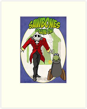 Sawbones Launch poster: Bones edition w/o text by Sockpuppet