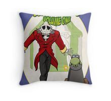 Sawbones Launch poster: Bones edition w/o text Throw Pillow