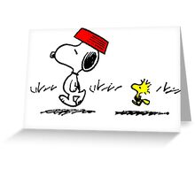 Snoopy and Woodstock Greeting Card