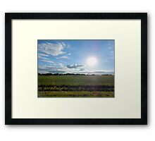 Countryside Landscape in the United States of America Framed Print