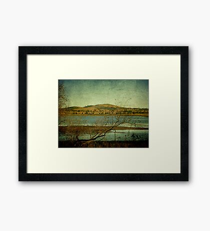Afternoon on Dangars Lagoon, Northern Tablelands, NSW, Australia Framed Print