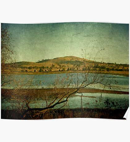 Afternoon on Dangars Lagoon, Northern Tablelands, NSW, Australia Poster