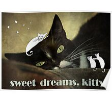 Sweet dreams kitty Poster