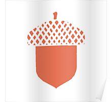 Peach Acorn Poster