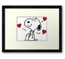 Snoopy Love Framed Print