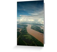 The Meeting of the waters - Manaus Brazil Greeting Card