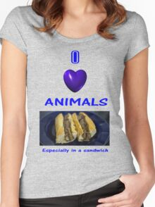 Steakwich  Women's Fitted Scoop T-Shirt