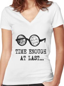 """Time Enough at Last"" T-shirt Women's Fitted V-Neck T-Shirt"