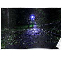 A rainy late October Night, Brinkburn Denes Poster