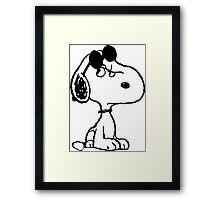 Snoopy Joe cool Framed Print