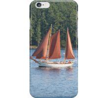 Schooner with Brick-red Sails iPhone Case/Skin