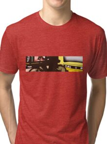 bus station, bike, me and the bus Tri-blend T-Shirt
