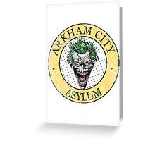 Arkham City Asylum Greeting Card