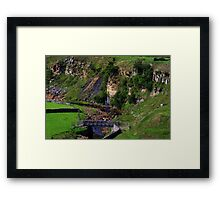 Intake Bridge ,Bog Scar and Sleightholme Beck, North Pennines, England. Framed Print