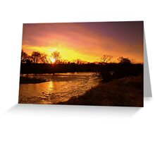 River of December Gold Greeting Card