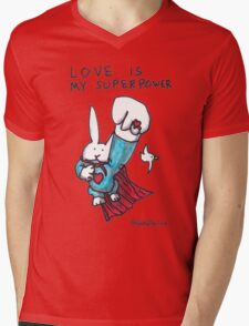 Love Is My Superpower Returns Mens V-Neck T-Shirt