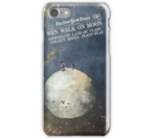 Men walk on Moon Astronauts  iPhone Case/Skin