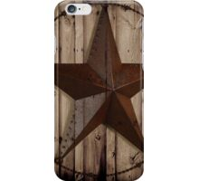 vintage western country barn wood grunge texas star  iPhone Case/Skin