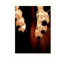 japanese lanterns IV Art Print