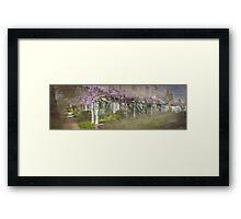 Jordan Wisteria - The Long View Framed Print