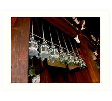 nara lanterns III Art Print
