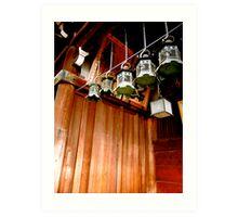 nara lanterns V Art Print