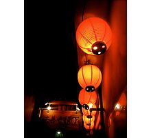 shinsaibashi lanterns II Photographic Print